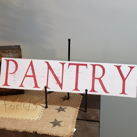 Handmade Other - NEW PANTRY Farmhouse Rustic Wooden Sign